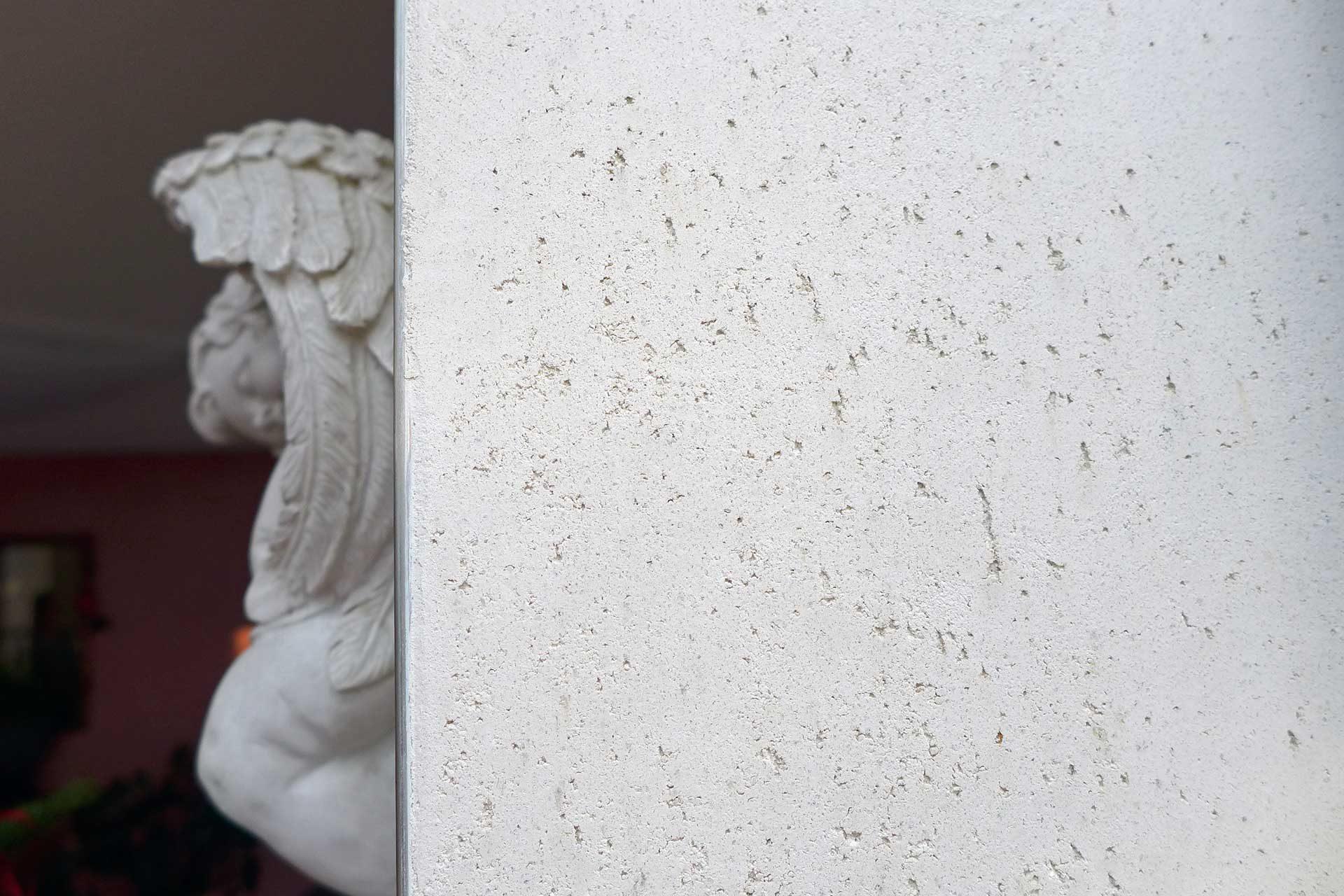 KalkManufaktur wellwall dry halboffen glatt Erdgelb