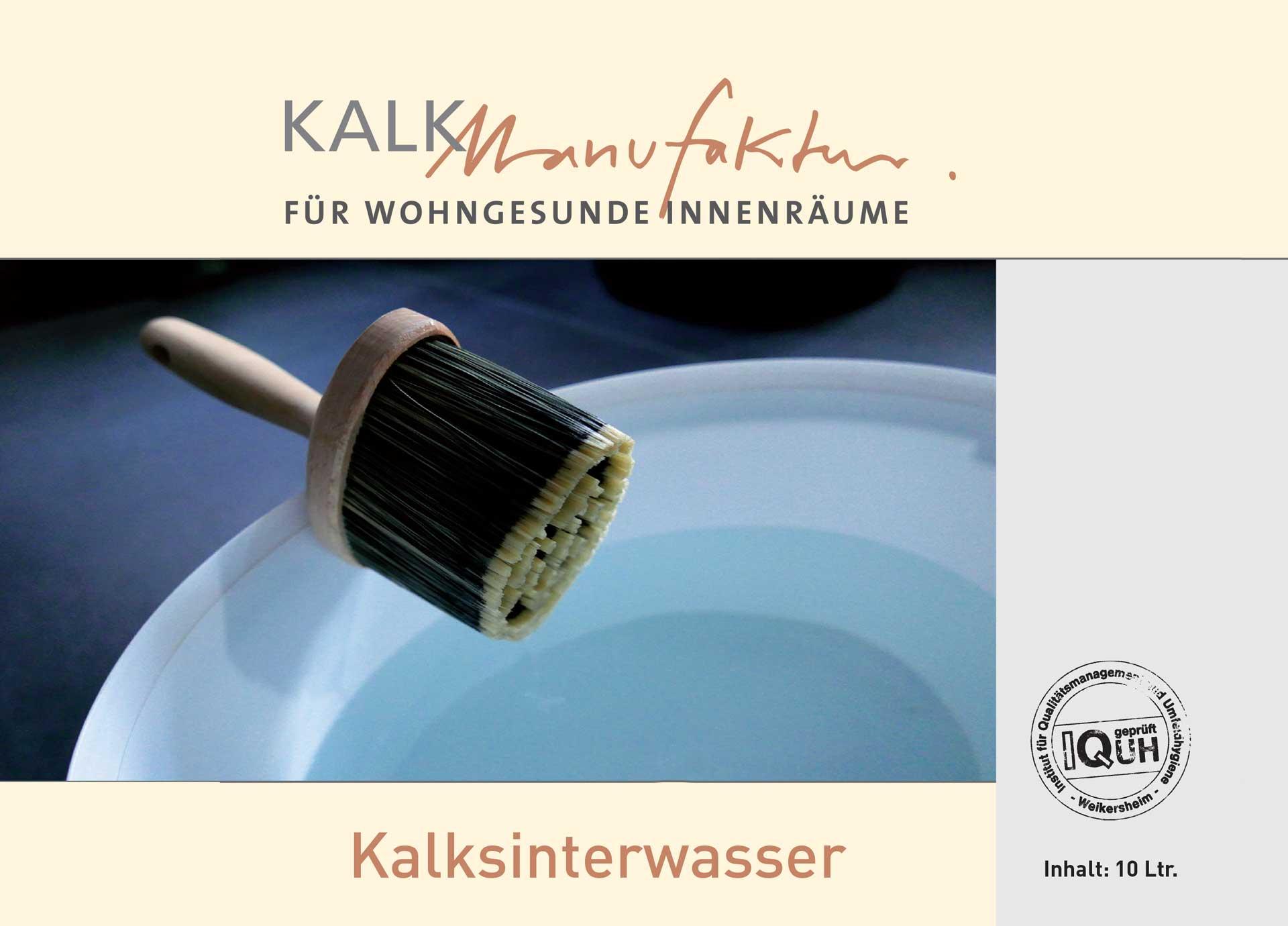 Kalkmanufaktur Kalksinterwasser